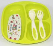 3 Pcs Babies,Children's Breakfast Dinner Set For Boys And Girls