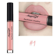 Yalasga Matte Lip Gloss, Long-Lasting Waterproof Moisturiser Liquid Lipstick Cosmetic Makeup