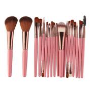 RNTOP 18Pcs Makeup Brushes Set Kit Tool Foundation Blush Concealer Beauty Cosmetics Contour Eyeshadow Eyeliner Powder Lip Brushes