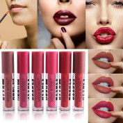 12 Colours Lip Glosses Professional Girls Make-up Lipstick Long-lasting for Women by TOPUNDER K