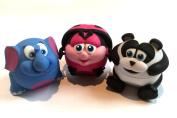 BeBe Bartoons Ladybug, Elephant & Panda