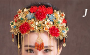 BININBOX Vintage Wedding Hair Retro Chinese Style With Bead For Women Bridal Bridesmaids Headpiece Head Band Accessorie Headdress