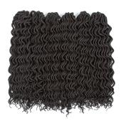 (6Packs)46cm Curly Faux Locs Soft Hair Twist Braids Crochet Braiding Hair Braids Mambo Hair Extension 24Roots/Pack