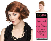 Skarlet Black Widow Avenger Colour Auburn - Enigma Wigs Women's Scarlett Johansson Flapper Full Fluff 1930s Bundle with Wig Cap, MaxWigs Costume Wig Care Guide