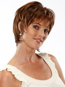 Short Brown Wigs Curly Wigs With Bangs Wigs For Women High Resistant Synthetic Wigs 25cm