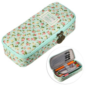 BTSKY Cute Pencil Case -- High Capacity Floral Pencil Pouch Stationery Organiser Multifunction Cosmetic Makeup Bag, Perfect Holder for Pencils and Pens