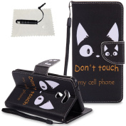 Case for LG G6,LG G6 Case Leather,LG G6 Case Wallet - TOCASO PU Leather Notebook Design Flip Folio Case Inner Soft TPU Case with [Card Slot] [Magnetic Closure][Wallet Function] Protective Skin Painted Lanyard Holster for LG G6 Model - The Ears of Cat