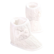AAA226 Toddler Baby Girl Bow Snow Boots Anti-Slip Soft Sole Prewalker Crib Shoes