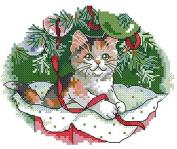 "Lemon Tree Cross Stitch starter Kits Beginners Cross-Stitching Accurate Pre-printed Pattern -Merry Christmas 11CT 10X8"""