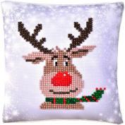 Needleart World Diamond Dotz Christmas Reindeer Mini Pillow Kit No Sewing