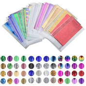 MZP 50 sheet of 35 cm * 4 cm Colour Mixing Transfer Foil Nail Art Star Design Stickers