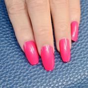 EchiQ 24pcs Hot Pink Coffin Long Nails False Nail Full Cover Flat Shape Acrylic Nail Tips Artificial Nails Fake Nails