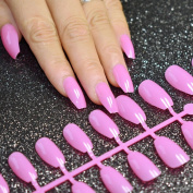 EchiQ HOT Coffin False Nails Candy Purple Pink Ballerina Full Cover Fake Nails DIY Acrylic Nail Art Tips
