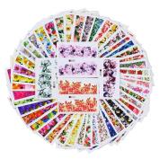 Born Pretty 50 Sheets Nail Art Sticker Flower Rose Daisy Dream Manicure Water Transfer Decal DIY Decoration