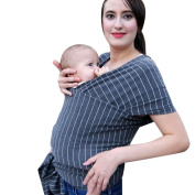 KaiCran New Baby Wrap Sling Stretchy Newborn Infants Toddler Breastfeeding Breathable Carrier
