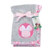 Minnie Mouse Soft Applique Blanket. Pink. 80cm x 80cm
