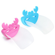 Eutuxia Water Spout & Faucet Extender for Kitchen and Bathroom Sinks. Perfect for Babies, Toddlers, Kids. Safe, Fun, and Easy Hand Washing Solution for Children. Unique, Cute Crab Design [Blue + Pink]