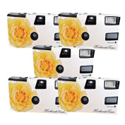5x PHOTO PORST Disposable Camera/Wedding/ Yellow Roses