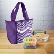 Fit & Fresh Bailey Insulated Lunch Bag Set with Reusable Containers