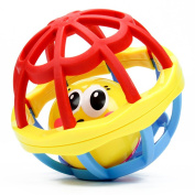 Rattles Ball Toy ,Mumustar Baby Kids Musical Hand Shaker Bell Jingle Ring Grasping Soft Rubber Ball Toy 19*25cm