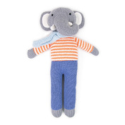 WEEG Oamigo Elephant – Knitted Toy – Cuddly Toy Floppy Animals from Cotton, 33 cm, Red