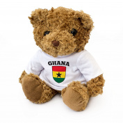Neu GHANA FLAGGE – Braun Teddybär – Niedlich Weich Kuschelig – Geschenk