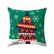 Nuohuilekeji Christmas Theme Pillowcase Cartoon Soft Comfortable Throw Cushion Cover Decor