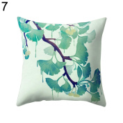 ALCYONEUS Decorative Scenery Leaves Print Home Office Pillow Case Waist Cushion Cover