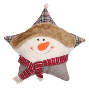 jileSM Christmas Star Shape Snowman Pillow Cushion Decor