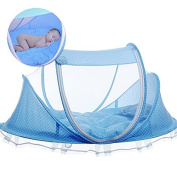 Whonline Foldable Baby Travel Crib with Mosquito Net Baby Travel Cot Portable Baby Crib Infant Travel Bed