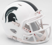 Michigan State Spartans White Matte Riddell Speed Mini Football Helmet - New in Riddell Box