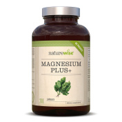 Magnesium Citrate Plus 700mg, 200 Vegetarian Capsules by NatureWise (6.5 Months Supply) Supports Muscles and Energy Production, .