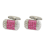 P.D.Man Crystal Pillow Pink Cufflink
