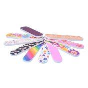 IGEMY New 12PCS Tools mini Art Nail File Grind Sand Block Double Sided Printing Polished Strip