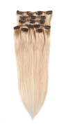"Grammy 15""/35cm 7pcs Remy Clips In Human Hair Extensions 70gr With Clips For Highlight"