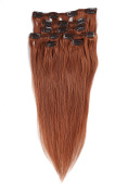 "Grammy 22""/55cm 7pcs Remy Clips In Human Hair Extensions 70g With Clips For Highlight"