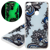 isaken Case Snap-on For Huawei P8 Lite 2017 – Fashion Cover Light Cover Case with Flashing LED Ultra Slim Thin TPU Hard Case Cover Silicone Gel Protective Skin Case tribal fiori Huawei P8 Lite 2017