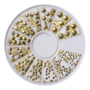 Gold SS6 Jonquil – SS20 Crystal Glass Rhinestone Rondel Pack of 240)