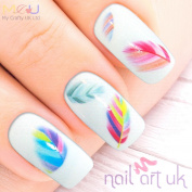 Peacock Feather Water Decal Nail Art Stickers, Decals, Tattoos