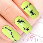 111 Black Ant Adhesive Nail Art Stickers Decals Decorations