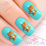 Cat Water Decal Nail Art Stickers, Decals, Tattoos