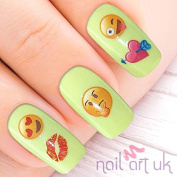 107 Smiley Emojii Adhesive Nail Art Stickers Decals Decorations