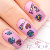 130 Mosaic Tile Adhesive Nail Art Stickers Decals Decorations