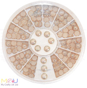 5mm Gold Lined Nail Art Pearl Wheel