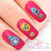 82 Monster Adhesive Nail Art Stickers Decals Decorations