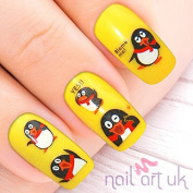 72 Penguin Christmas Adhesive Nail Art Stickers Decals Decorations