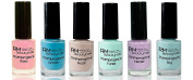 Stampinglack 6x4ml Pink Nude Lilac Turquoise Ocean Sky Stamping Nail Polish RM Beauty Nails