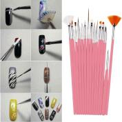 Nail Art Brush Set ,Mumustar Manicure UV Gel Nail Dotting Detailer Liner And Striper Painting Drawing Brush Pen Set Tools