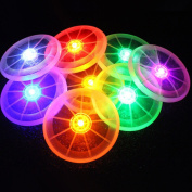 BENHAI 1 Pc LED Colour Tableware Light Up Drink Cup Mat Changing Glow Bar Club Party Kitchen Silicone Luminous Placemat