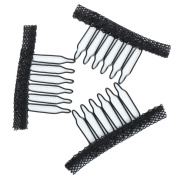 Fani 40 Pcs Stainless Steel Lace Wrapped Wig Combs for Wig Caps Glueless Wig Clips